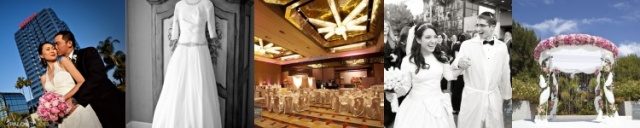 Hilton Unversal City Hotel Wedding Venue Ceremony Site Reception Ballroom in Los Angeles
