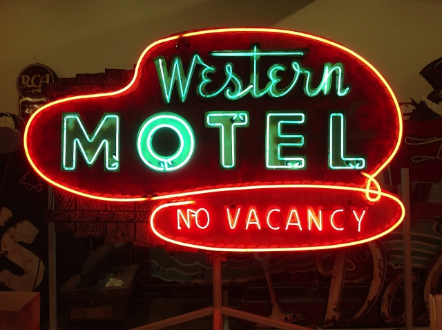 """Western Motel"" neon sign, circa 1950. Collection of the Museum of Neon Art. (Photo courtesy of Museum of Neon Art)"
