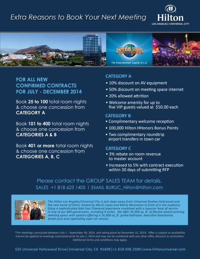 2014-Q3 & Q4 Extra Reasons To Book Promo - Group